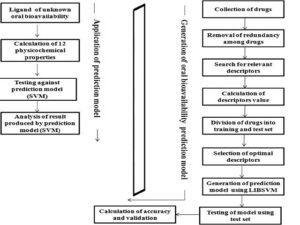 Stepwise illustration of generation of an oral bioavailability prediction model and its application